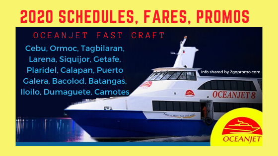 2020 schedules and fares oceanjet