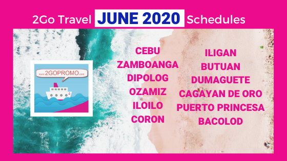 JUNE 2020 SCHEDULES 2GO