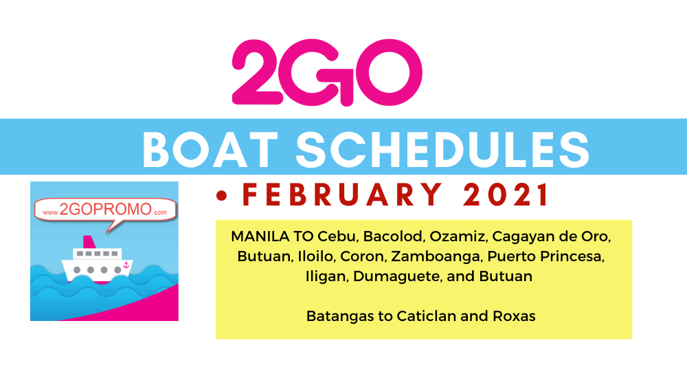 2go schedules february 2021